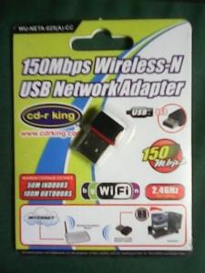 150Mbps Wireless-N USB Network Adapter WU-NETA-025(A)-CC